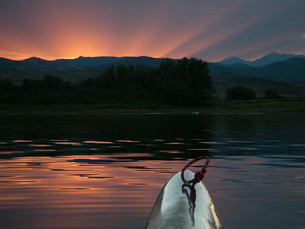 Thunderbolt-X kayak on Lonetree Reservoir
