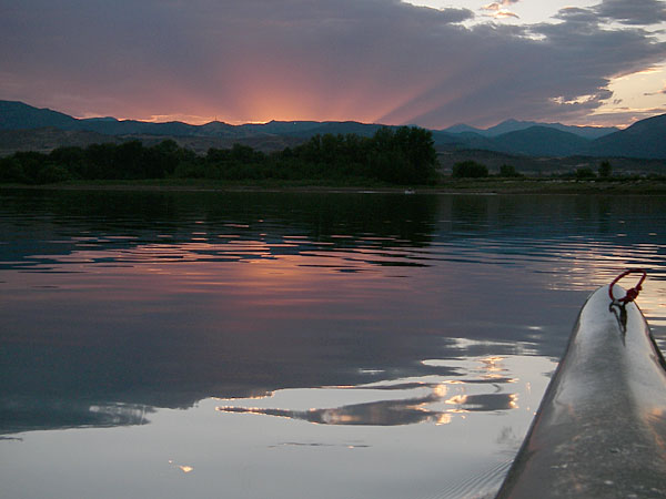 Colorado sunset kayaking
