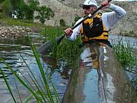 Doug Bushnell Thunderbolt-X racing kayak